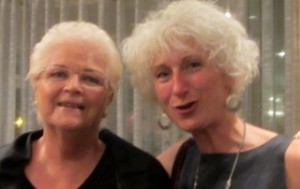 Barbara Chalmers and Pam St Clement 7 Sep 13
