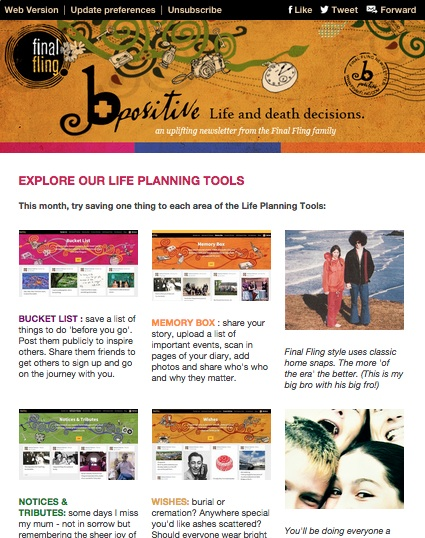 B Positive newsletter