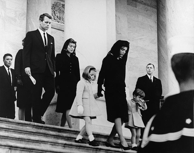 JFK's family at funeral on Capitol Hill
