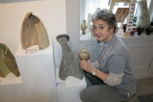 Saudi Luti in her gallery